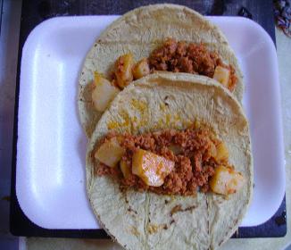 how to make chorizo con papas
